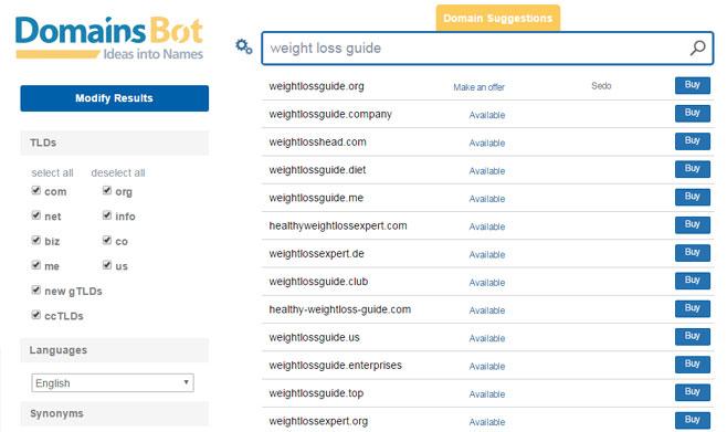 Domainsbot Tutorial