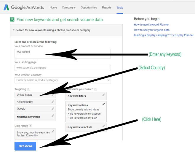 Google Keyword Planner Tutorial-1